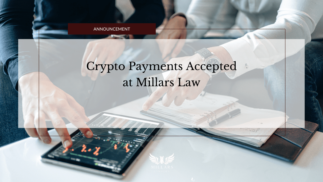 Millars Lawyer Accepts Crypto Payments Pioneering the Modernization of the Law Firm